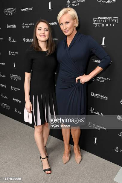 Daniela PierreBravo and Mika Brzezinski at the 2019 Town Country Philanthropy Summit Sponsored By Northern Trust Memorial Sloan Kettering Pomellato...