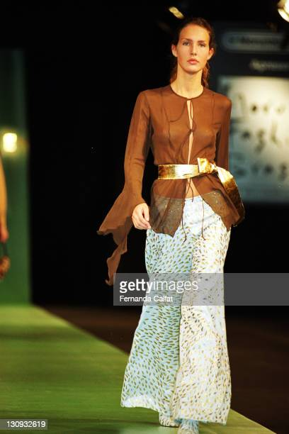 Daniela Raizel during 2000 Sao Paulo Fashion Week Fause Haten