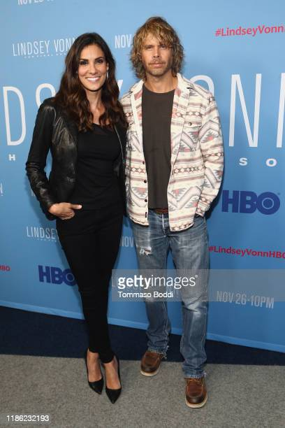 Daniela Ruah and Eric Olsen attend the premiere of HBO's Lindsey Vonn The Final Season at Writers Guild Theater on November 07 2019 in Beverly Hills...