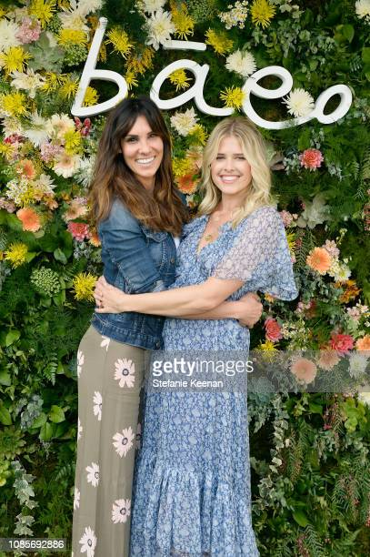 Daniela Ruah and Sarah Wright Olsen attend Baeo Launch Party at Private Residence on January 20 2019 in Pacific Palisades California