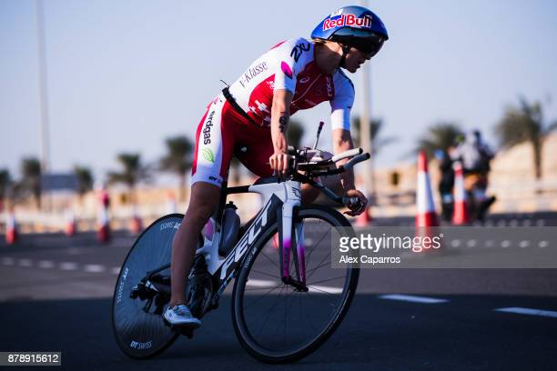 Daniela Ryf of Switzerland competes during the bike leg of IRONMAN 703 Middle East Championship Bahrain on November 25 2017 in Bahrain Bahrain