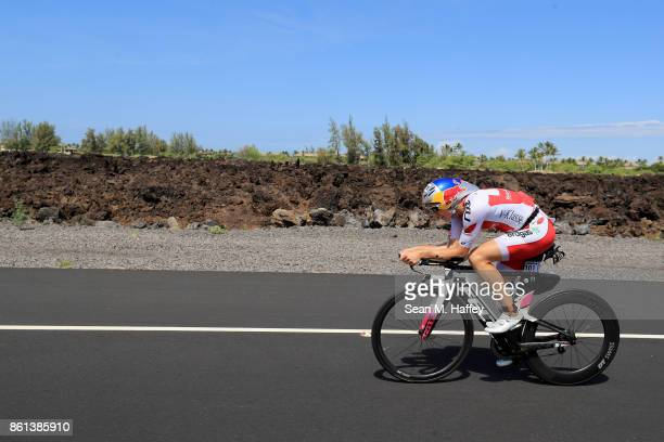 Daniela Ryf of Switzerland competes on the bike during the IRONMAN World Championship on October 14 2017 in Kailua Kona Hawaii