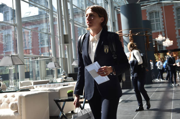 FRA: Italy Women Arrive in Valenciennes: FIFA Women's World Cup France 2019