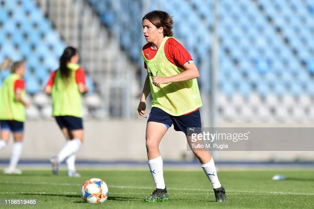 Daniela Sabatino of Italy Women in action during a training session at Stadium Lille Metropole on June 17, 2019 in in Villeneuve d'Ascq near Lille,...