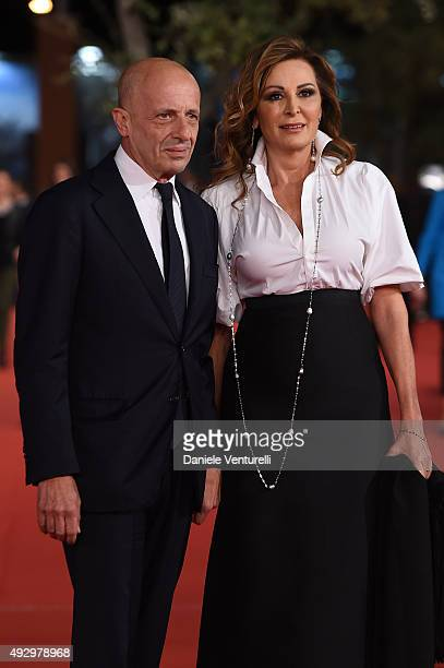 Daniela Santanchè and Alessandro Sallusti walk the red carpet for 'Truth' during the 10th Rome Film Fest at Auditorium Parco Della Musica on October...