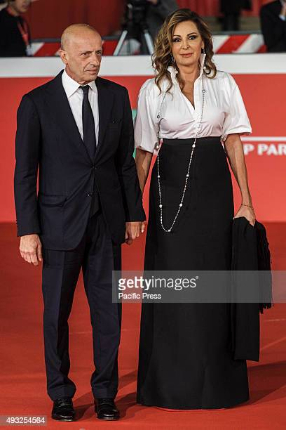 Daniela Santanchè and Alessandro Sallusti walk the red carpet for the premiere of 'Truth' during the 10th Rome Film Fest at Auditorium Parco della...