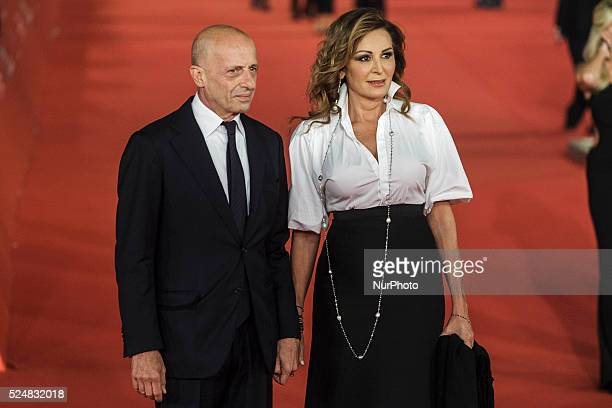 Daniela Santanch and Alessandro Sallusti walk the red carpet for the premiere of 'Truth' during the 10th Rome Film Fest at Auditorium Parco della...