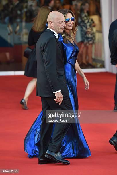 Daniela Santanche Alessandro Sallusti attend the Opening Ceremony and 'Birdman' premiere during the 71st Venice Film Festival at Palazzo Del Cinema...