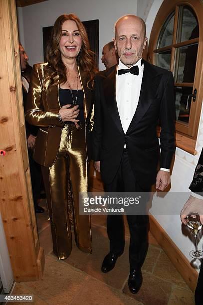 Daniela Santanche and Alessandro Sallusti attend Bulgari High Jewelry Event St Moritz on February 14 2015 in St Moritz Switzerland