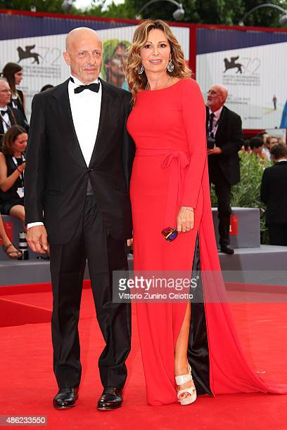 Daniela Santanche and Alessandro Sallusti attend the opening ceremony and premiere of 'Everest' during the 72nd Venice Film Festival on September 2...