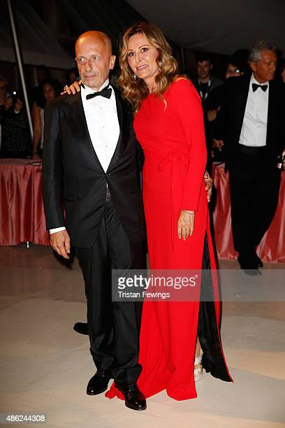Daniela Santanche and Alessandro Sallusti attend the opening dinner during the 72nd Venice Film Festival on September 2 2015 in Venice Italy