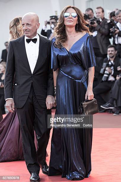Daniela Santanche and Alessandro Sallusti attend the premiere of movie 'Birdman' presented in competition at the 71st International Venice Film...