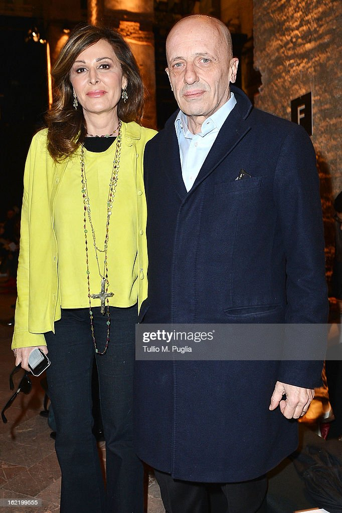 Daniela Santanche and Alessandro Sallusti attend the Simonetta Ravizza fashion show as part of Milan Fashion Week Womenswear Fall/Winter 2013/14 on February 20, 2013 in Milan, Italy.