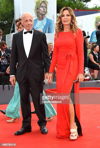 Daniela Santanche and Alessandro Sallusti attends the opening ceremony and premiere of 'Everest' during the 72nd Venice Film Festival on September 2...