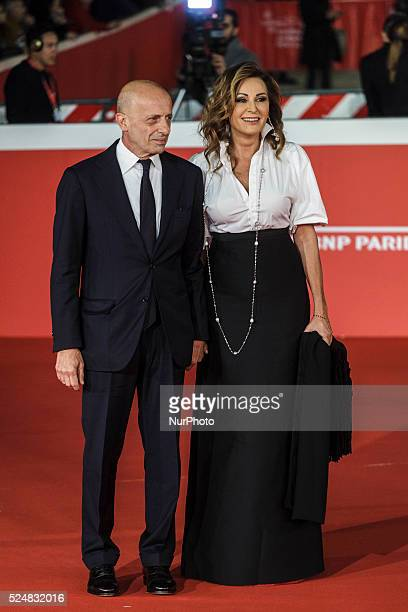 Daniela Santanche' and Alessandro Sallusti walk the red carpet for the premiere of 'Truth' during the 10th Rome Film Fest at Auditorium Parco della...