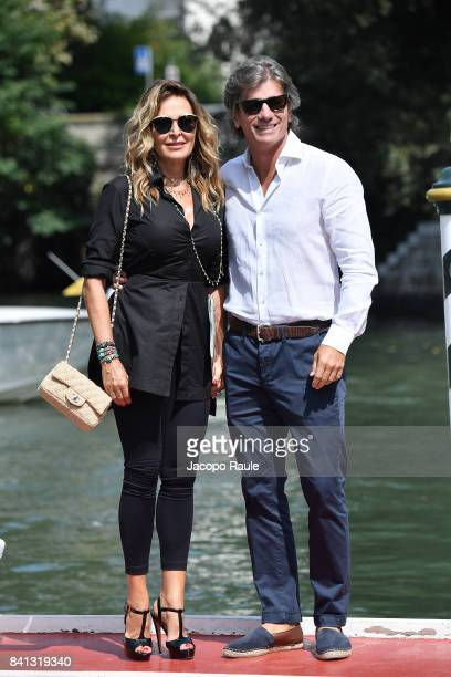 Daniela Santanche and Dimitri D'Asburgo are seen during the 74 Venice Film Festival on August 31 2017 in Venice Italy