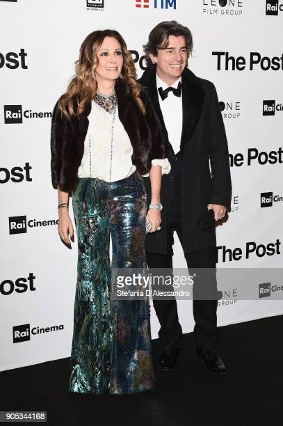 Daniela Santanche and Dimitri D'Asburgo Lorena attend the 'The Post' premiere on January 15 2018 in Milan Italy