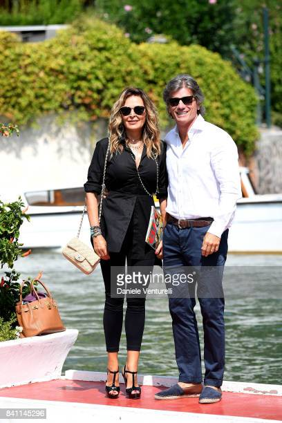 Daniela Santanche and Dimitri Kunz are seen during the 74th Venice Film Festival on August 31 2017 in Venice Italy