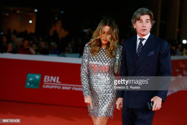 Daniela Santanche and Dimitri Kunz walk a red carpet for 'Hostiles' during the 12th Rome Film Fest at Auditorium Parco Della Musica on October 26...