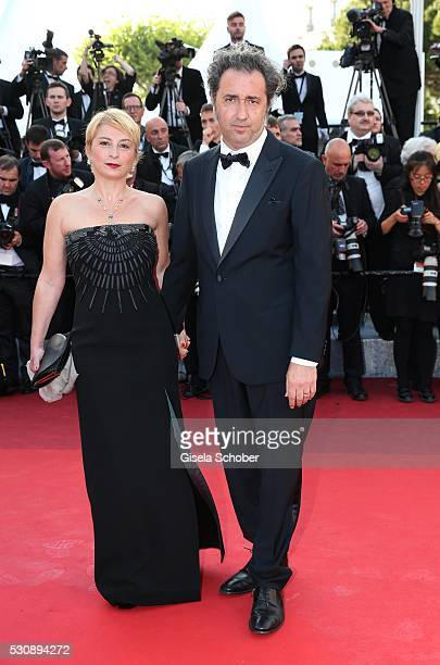 Daniela Sorrentino and Paolo Sorrentino attend the Cafe Society premiere and the Opening Night Gala during the 69th annual Cannes Film Festival at...