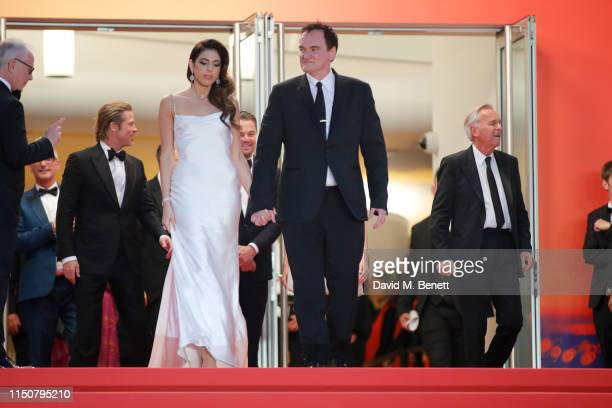 Daniela Tarantino and Quentin Tarantino attend the screening of Once Upon A Time In Hollywood during the 72nd annual Cannes Film Festival on May 21...