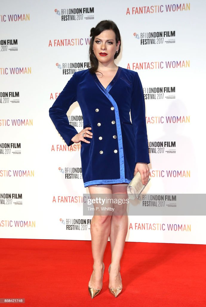 Daniela Vega attends the BFI Flare Special Presentation and UK Premiere of 'A Fantastic Woman' during the 61st BFI London Film Festival on October 6, 2017 in London, England.