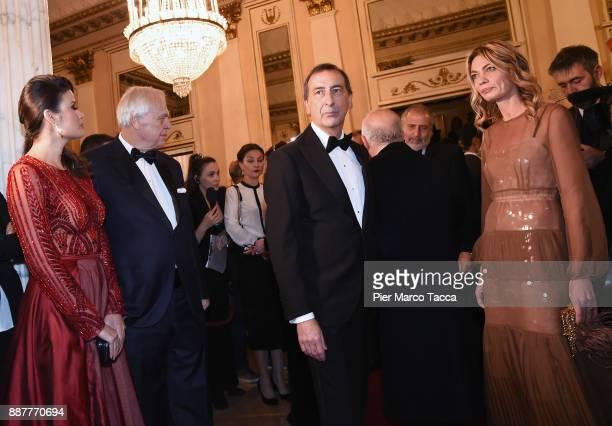 Daniela Weisser Alexander Pereira Giuseppe Sala and Chiara Bazoli attend the Prima Alla Scala at Teatro Alla Scala on December 7 2017 in Milan Italy