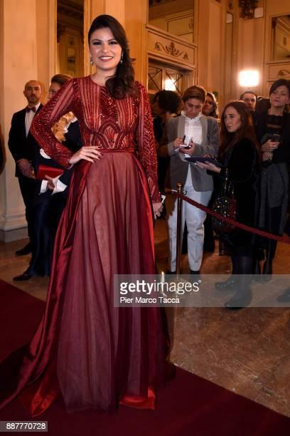 Daniela Weisser attends the Prima Alla Scala at Teatro Alla Scala on December 7 2017 in Milan Italy