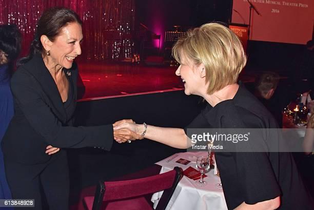 Daniela Ziegler and Carmen Nebel attend the Deutscher Musical Theater Preis 2016 on October 11 2016 in Berlin Germany