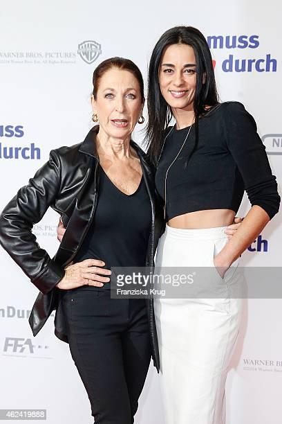 Daniela Ziegler and Edita Malovcic attend the 'Da muss Mann durch' German Premiere on January 28 2015 in Berlin Germany