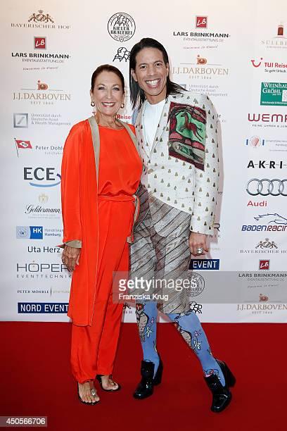 Daniela Ziegler and Jorge Gonzalez attend the 'Das Herz im Zentrum' Charity Gala on June 13 2014 in Hamburg Germany