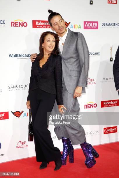 Daniela Ziegler and Jorge Gonzalez attend the 'Goldene Bild der Frau' award at Hamburg Cruise Center on October 21 2017 in Hamburg Germany