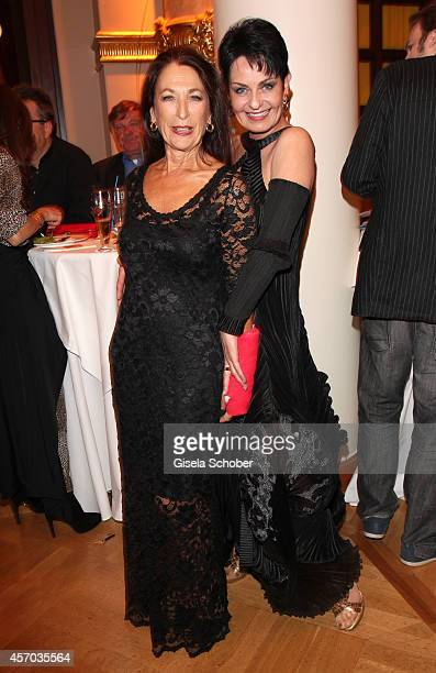 Daniela Ziegler and Sybille Nicolai attend the Hessian Film And Cinema Award 2014 on October 10, 2014 at Alte Oper in Frankfurt am Main, Germany.