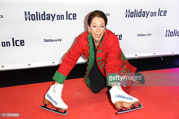 Daniela Ziegler attends the 'Holiday on Ice: Passion' Berlin Premiere on February 26, 2016 in Berlin, Germany.