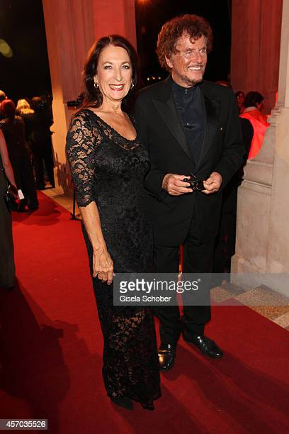 Daniela Ziegler Dieter Wedel attend the Hessian Film And Cinema Award 2014 on October 10 2014 at Alte Oper in Frankfurt am Main Germany