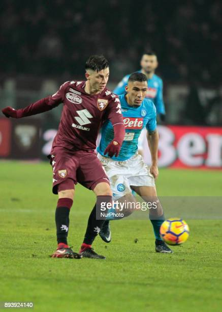 Daniele Baselli during Serie A match between Torino v Napoli in Turin on December 16 2017