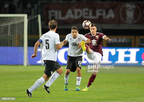 Daniele Baselli Francesco Ardizzone and Alessandro Budel during Tim Cup 20162017 match between Torino FC and FC Pro Vercelli at the Olympic Stadium...
