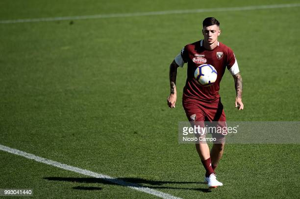 Daniele Baselli in action during Torino FC first training of the season 20182019