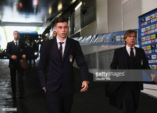 Daniele Baselli of Italy arrives at the stadium prior to the International Friendly match between Italy and Netherlands at Allianz Stadium on June 4...