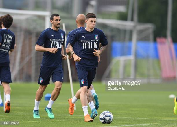 Daniele Baselli of Italy in action during a Italy training session at Juventus Center Vinovo on June 2 2018 in Vinovo Italy