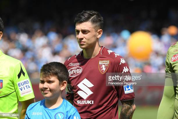 Daniele Baselli of Torino FC before the serie A match between SSC Napoli and Torino FC at Stadio San Paolo on May 6 2018 in Naples Italy