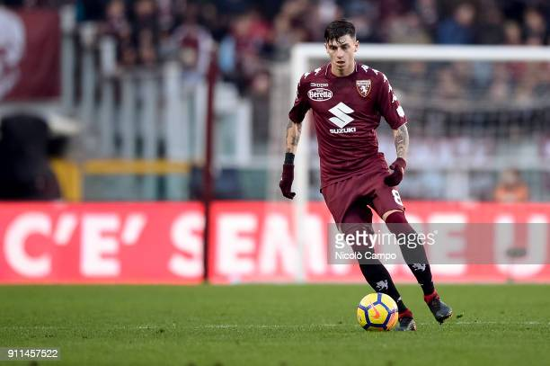 Daniele Baselli of Torino FC in action during the Serie A football match between Torino FC and Benevento Calcio Torino FC won 30 over Benevento Calcio