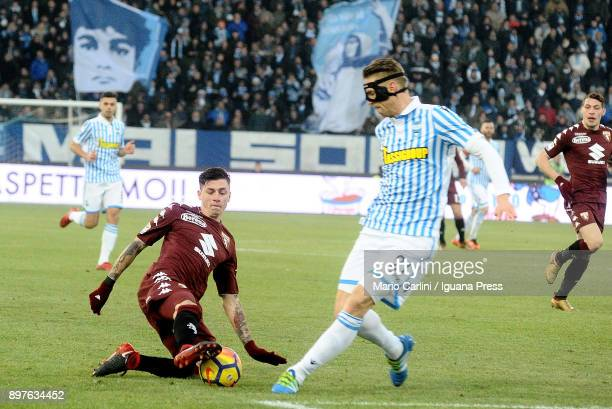 Daniele Baselli of Torino FC in action during the serie A match betweenSpal and Torino FC at Stadio Paolo Mazza on December 23 2017 in Ferrara Italy