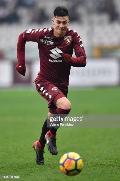 Daniele Baselli of Torino FC in action during the serie A match between Torino FC and Bologna FC at Stadio Olimpico di Torino on January 6 2018 in...