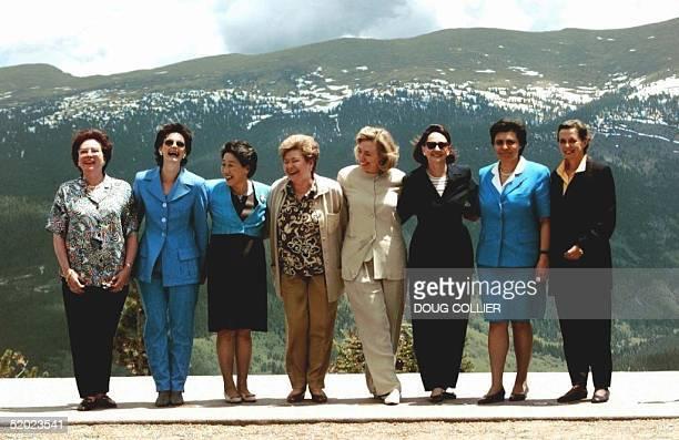 Daniele Binot Santer of the European Commission, Cherie Blair of the United Kingdom, Kamiko Hashimoto of Japan, Naina Yeltsin of Russia, Hillary...