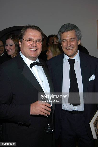 Daniele Bodini and Alain Elkann attend FRIENDS OF SAN PATRIGNANO Dinner Celebration at Guggenheim Museum on June 5 2007 in New York City