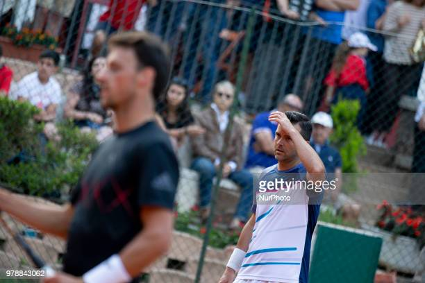 Daniele Bracciali during match between Facundo Bagnis /Ariel Behar and Andrea Arnaboldi/Daniele Bracciali during day 4 at the Internazionali di...
