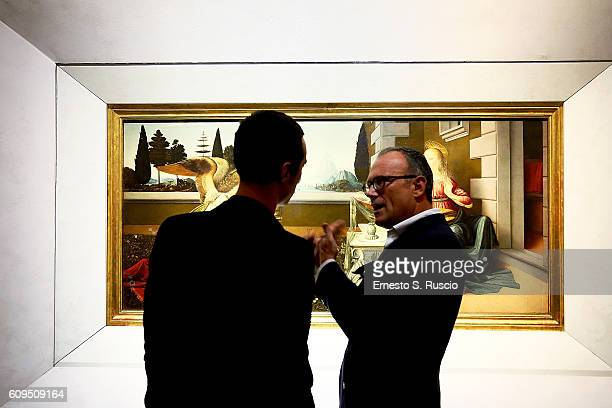 Daniele Cavalli and Cesare Cunaccia attend the Les Petits Joueurs Dinner at Galleria Uffizi on September 20 2016 in Florence Italy