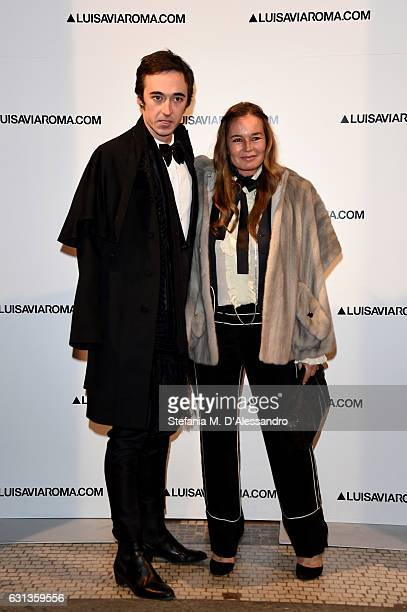 Daniele Cavalli and Eva Cavalli walk the red carpet of Firenze4ever 14th Edition Party hosted by LuisaViaRoma on January 9 2017 in Florence Italy