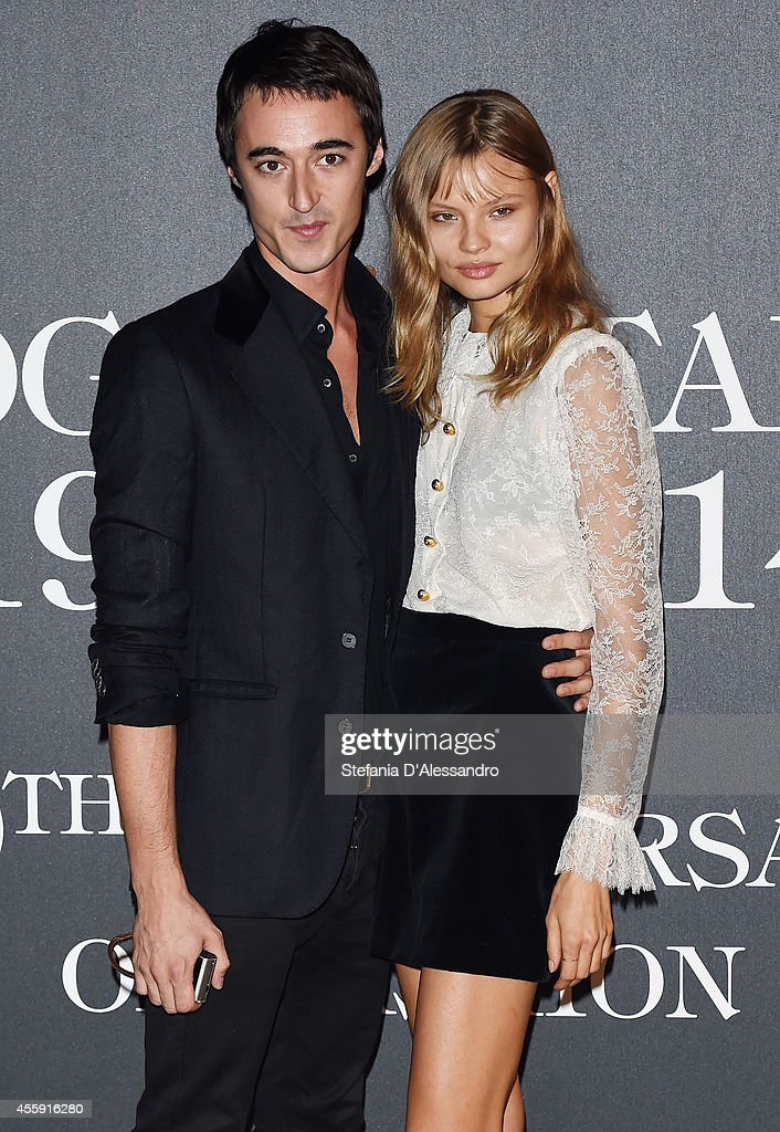 Daniele Cavalli and Magdalena Frackowiak attend Vogue Italia 50th Anniversary Event on September 21, 2014 in Milan, Italy.